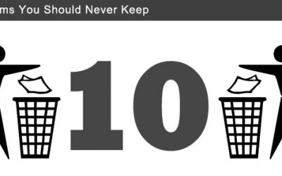 Ten Items You Should Never Keep